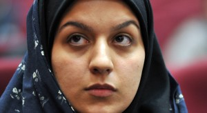 Iranian Reihaneh Jabbari on trial in Teheran, Iran, 15 December 2008. According to the allegations, Jabbari killed her rapist with a knife in an act of self-defence in July of 2007. The court sentenced her to death for committing murder. According to Iranian laws, an execution could be avoided with a pardon from the family of the victim. This has been rejected multiple times and the family demands revenge. Photo: Goalara Sajadieh/dpa